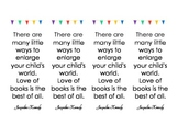 Bookmarks for Parents on Parent's Night