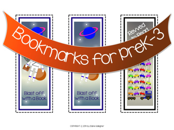 Snowman Bookmark and Other Bookmarks for PreK-3