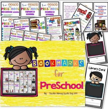 Bookmarks for Preschool