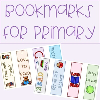 Bookmarks for Primary Students