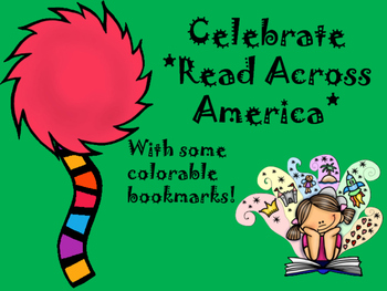 Bookmarks for Read Across America and Reading Promotion