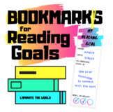 Bookmarks for Reading Goals *8 Designs*