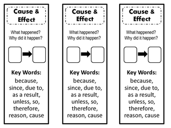 Bookmarks for Reading Skills or Reading Interactive Notebook