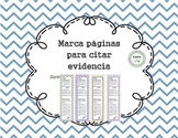 Bookmarks for citing evidence / Marca paginas para citar e