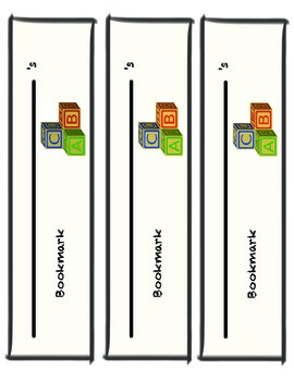 Bookmarks for primary grades