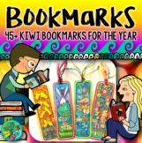 Bookmarks for the year (Kiwi themed)