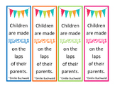Bookmarks for use at parent night, open house!