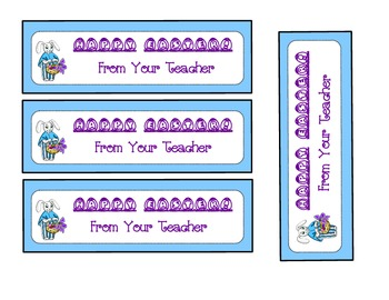 Bookmarks for your Little Easter Bunnies (Happy Easter)
