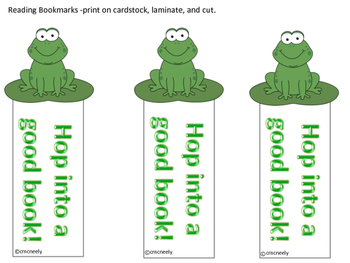 Bookmarks - frog theme