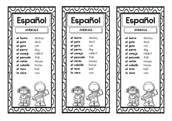 12 bookmarks in Spanish and two classroom posters
