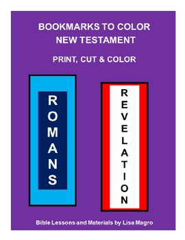 Student Activities - Bookmarks of the New Testament   -  Color, Cut & Done!