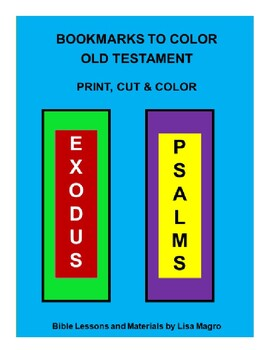 Bookmarks of the Old Testament  -  Print, Cut, Color & Done!