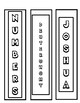 Old Testament Bookmarks to color  -  Print, Cut, Color & Done!