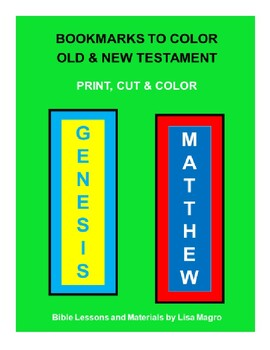 Student Activities - Bookmarks of the Old & New Testament  -  Color, Cut & Done!