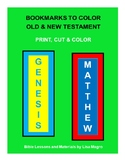 Bookmarks of the Old & New Testament to color  -  Print, C