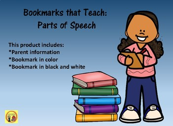Bookmarks that Teach: Parts of Speech for Parents