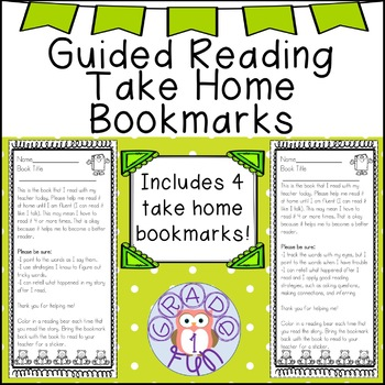 Bookmarks to Build Fluency