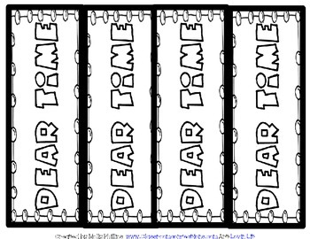 Free Bookmarks: Color Your Own Bookmark