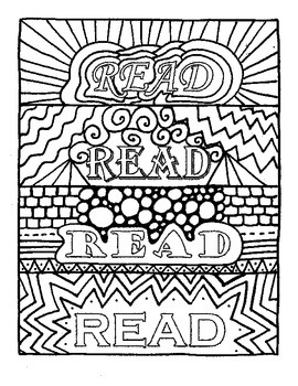 Bookmarks to Color:  Read