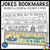 Bookmarks to Color with Jokes