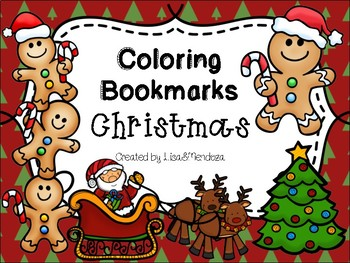 Bookmarks to Color - Christmas