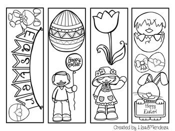 Bookmarks to Color - Easter