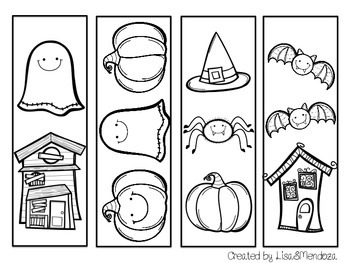 Bookmarks to Color - Halloween