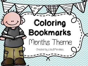 Bookmarks to Color - Months Theme