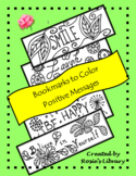 Bookmarks to Color:   Positive Messages
