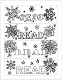 Winter Bookmarks to Color