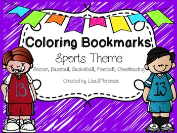 Bookmarks to Color - Sports Theme