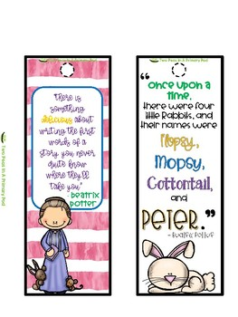Bookmarks with Author Quotes