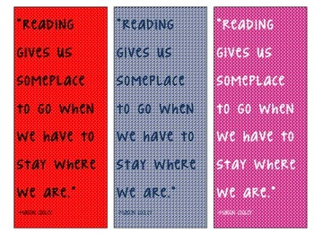 Bookmarks with Quotes