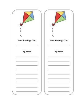 Bookmarks with Various Pictures
