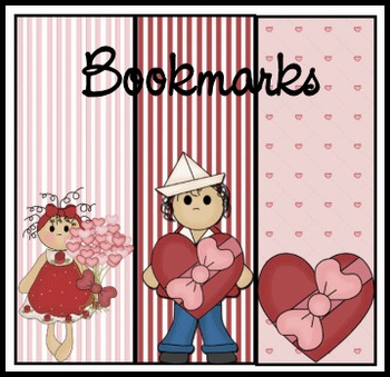 Bookmarks with hearts