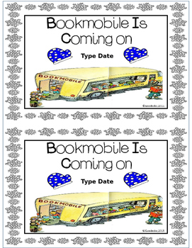 Bookmobile Reminder Flyers (Freebie)