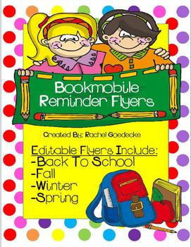 Bookmobile Reminder Flyers (Freebie)