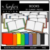 Books 1 Clipart {A Hughes Design}