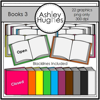 Books 3 {Graphics for Commercial Use}