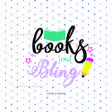 Books And Bling Svg - Teacher/Student Clipart