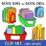 Books Bins and Book Ends Clip Art