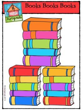 Books Books Books {P4 Clips Trioriginals Digital Clip Art}