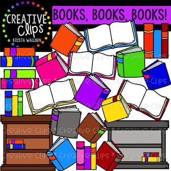 Books, Books {Creative Clips Digital Clipart}
