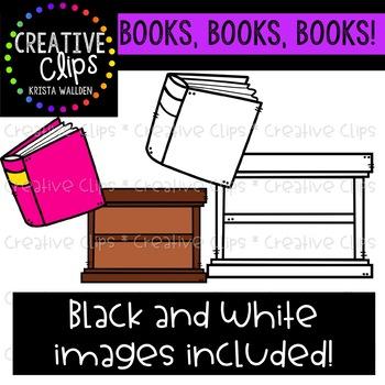 Book Clipart {Creative Clips Digital Clipart}