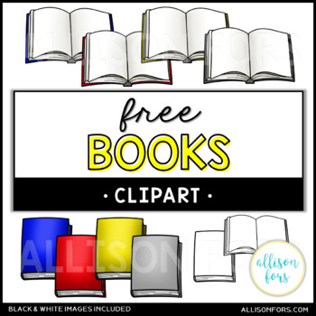FREE Opened and Closed Books Clip Art