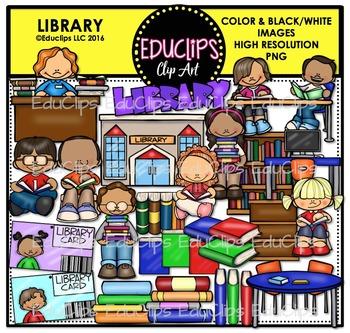 Books Clip Art Mega Bundle {Educlips Clipart}