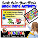 Digital / Interactive Library Book Care Activity