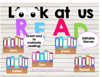 Personalized Book Display - encourage reading with this fun display of books
