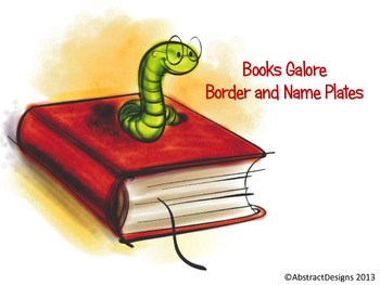 Books Galore Border and Name Plates