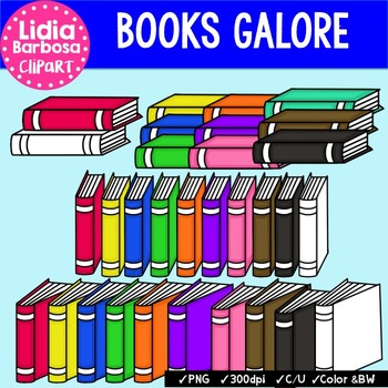 Books Galore { Clip Art for Teachers }